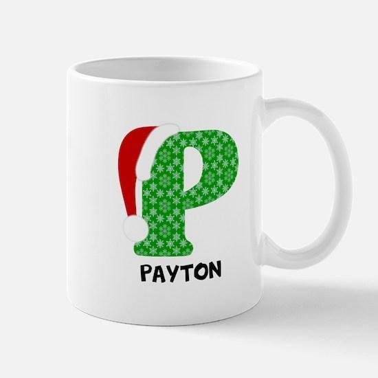 Christmas Letter P Monogram Small Mug