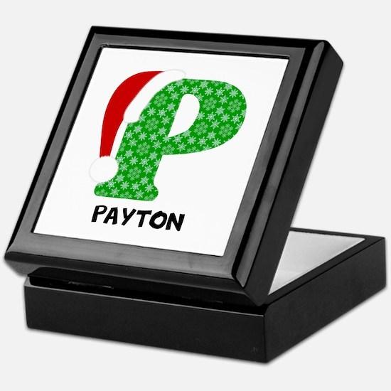 Christmas Letter P Monogram Keepsake Box