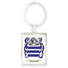 Venegas Family Crest (Coat of Ar Portrait Keychain