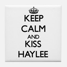 Keep Calm and kiss Haylee Tile Coaster