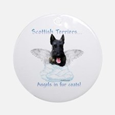 Scotty Angel Ornament (Round)