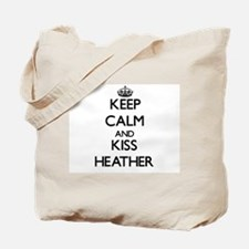 Keep Calm and kiss Heather Tote Bag