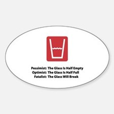 Fatalist Glass Oval Decal
