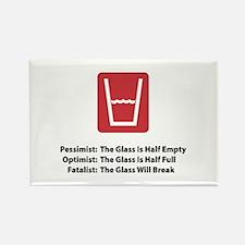 Fatalist Glass Rectangle Magnet