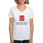 Feminist Glass Women's V-Neck T-Shirt
