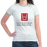 Feminist Glass Jr. Ringer T-Shirt