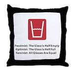 Feminist Glass Throw Pillow