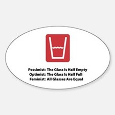 Feminist Glass Oval Decal
