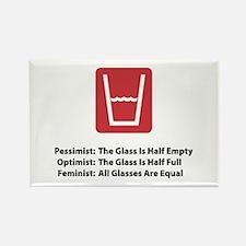 Feminist Glass Rectangle Magnet