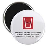 """Feminist Glass 2.25"""" Magnet (10 pack)"""