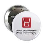 Feminist Glass Button
