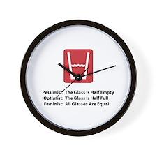 Feminist Glass Wall Clock