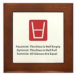Feminist Glass Framed Tile