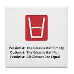 Feminist Glass Tile Coaster