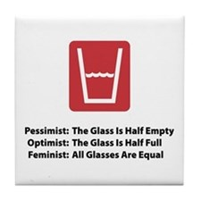 Feminist Glass Tile Coaster