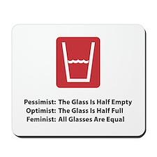 Feminist Glass Mousepad
