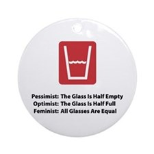 Feminist Glass Ornament (Round)