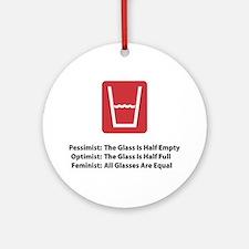 Feminist Glass Ornament (Round)