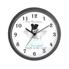 Fox Terrier Angel Wall Clock