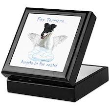 Fox Terrier Angel Keepsake Box