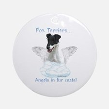 Fox Terrier Angel Ornament (Round)