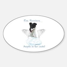 Fox Terrier Angel Oval Decal