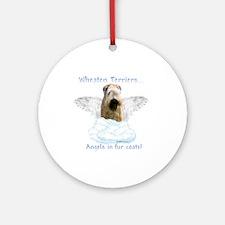 Wheaten Angel Ornament (Round)
