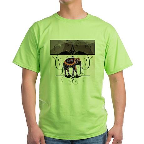 Jeweled Elephant Green T-Shirt