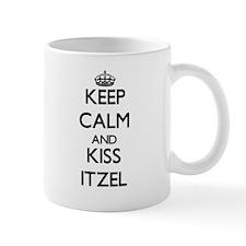 Keep Calm and kiss Itzel Mugs