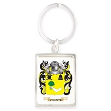Vicente Family Crest (Coat of Ar Portrait Keychain