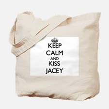 Keep Calm and kiss Jacey Tote Bag