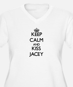 Keep Calm and kiss Jacey Plus Size T-Shirt