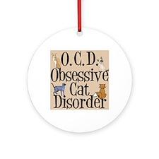 obsessivecatslider Round Ornament
