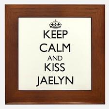 Keep Calm and kiss Jaelyn Framed Tile