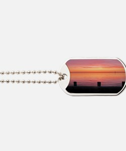 Serenity Sunset over LBI Dog Tags