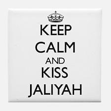 Keep Calm and kiss Jaliyah Tile Coaster