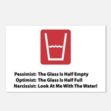 Narcissist Glass Postcards (Package of 8)