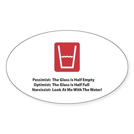 Narcissist Glass Oval Sticker
