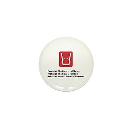 Narcissist Glass Mini Button