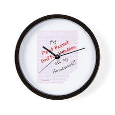 PBGV Homework Wall Clock