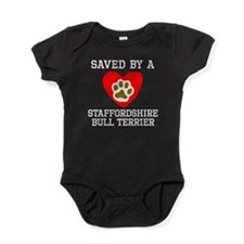Saved By A Staffordshire Bull Terrier Baby Bodysui