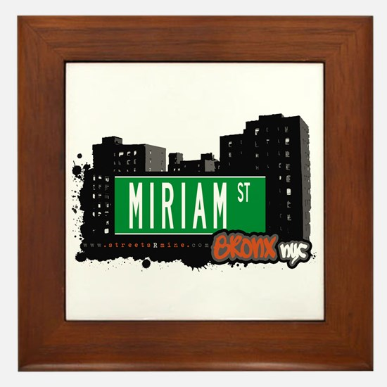 Miriam St, Bronx, NYC Framed Tile