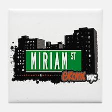 Miriam St, Bronx, NYC Tile Coaster