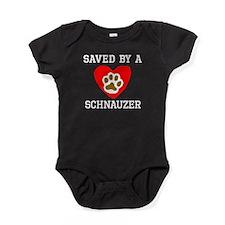 Saved By A Schnauzer Baby Bodysuit