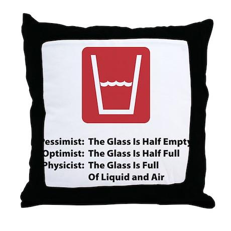 Physicist Glass Throw Pillow