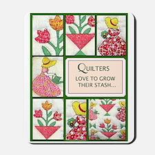 Gardening Quilter Mousepad