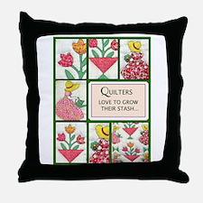 Gardening Quilter Throw Pillow