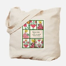 Gardening Quilter Tote Bag