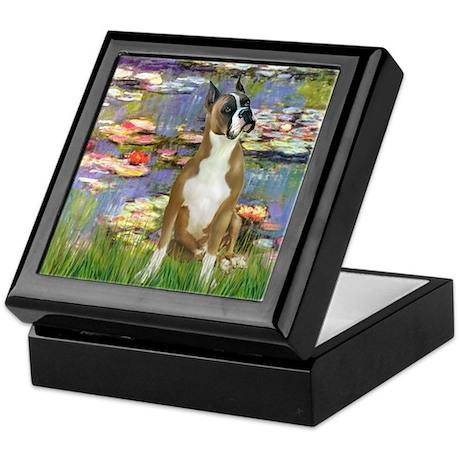 Boxer (1) in Monet's Lilies Keepsake Box