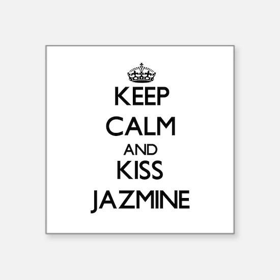 Keep Calm and kiss Jazmine Sticker